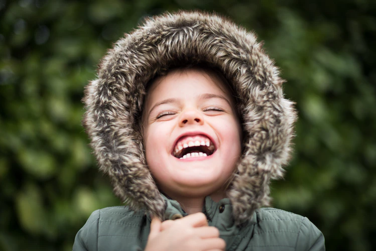 a kid laughing