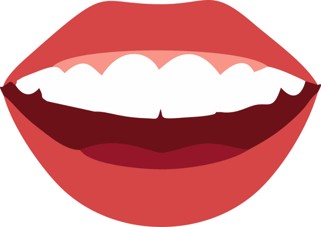 A vector image of a perfect smile