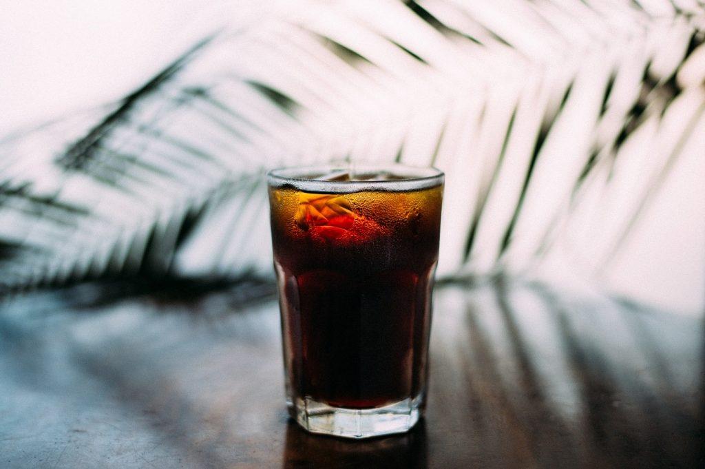 A fizzy, acidic drink.